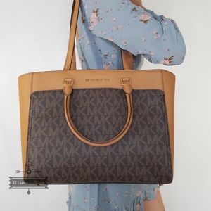 Michael Kors Emmy Large Double Handle Tote Brown